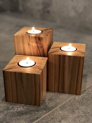 Porte-chandelles en bois