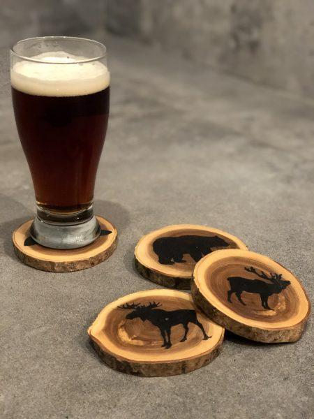 Sous-verres en bois